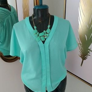MM Couture by Miss Me V Neck Button Down- Size XS